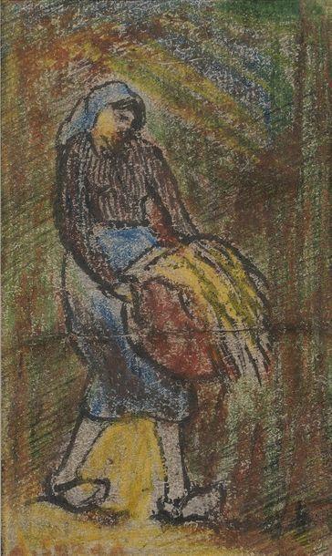 Antoine SERRA (1908-1995)  Jeune femme  Gouache...
