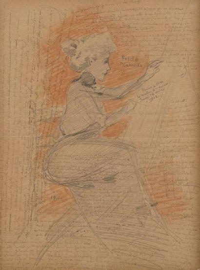 Gustave Adolphe MOSSA (1883-1971)  Frisa...