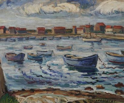 Louis AUDIBERT (1881-1983)  Le port  Huile...