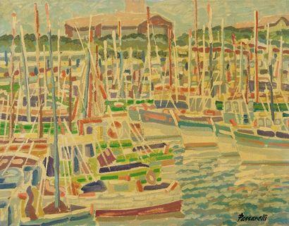 Mario Passarelli (1930-)  Le port de pêche...