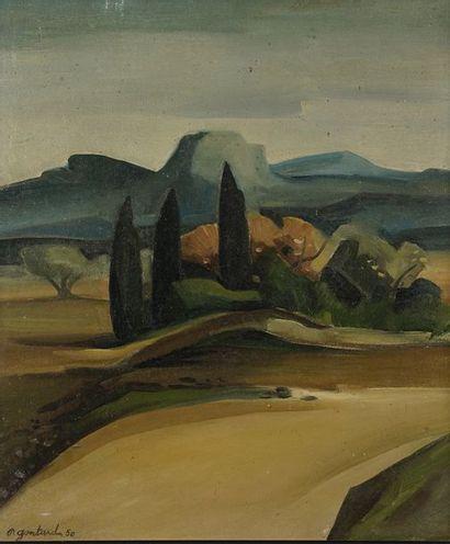 Pierre GONTARD (1927-)  Paysage en Provence...