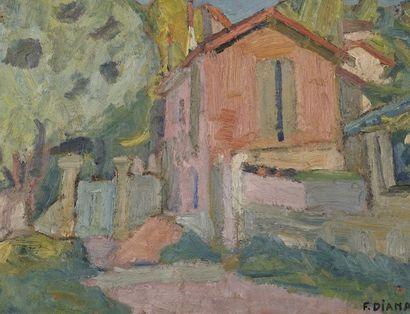 François DIANA (1903-1993)  La maison de...