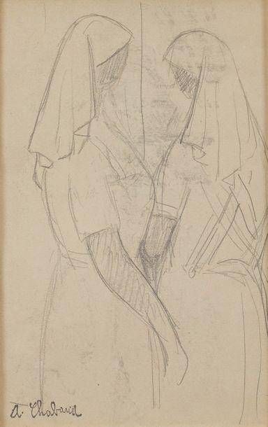 Auguste CHABAUD (1882-1955)  Jeunes femmes...