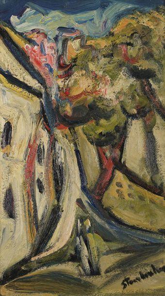 Joseph STAMBOULIAN (1937-)  Paysage  Huile...