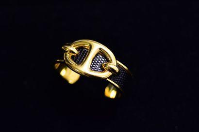 HERMES  Bracelet demi jonc plaqué 80's  Environ...