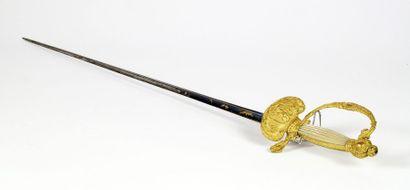 Epée de Cour de fonctionnaire en bronze doré,...