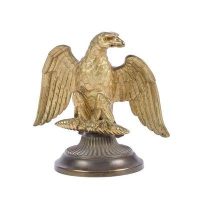 Aigle Impérial d'emblème  Bronze doré  Travail...