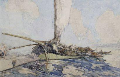 André PETROFF (1894-1975)  Port de Nice (étude),...