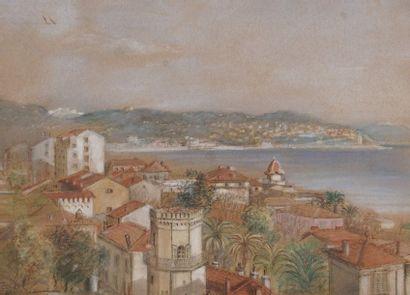 Lot de deux vues de Nice   - Une aquarelle...