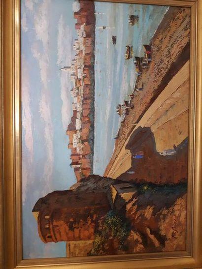 Pierre DE SAEDELER (XX ème)  Marrakech  Huile...