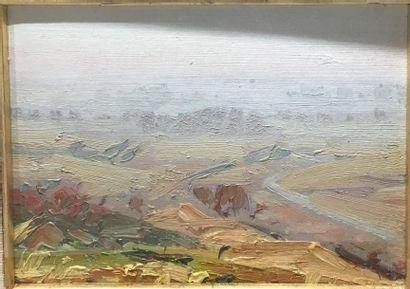 Oreste ALBERTINI (1887-1953)  Paire de paysages,...