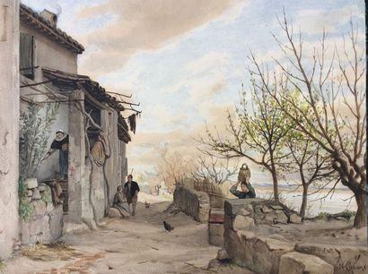 Florian N. CABANE (1831-1922)  Paysans et...