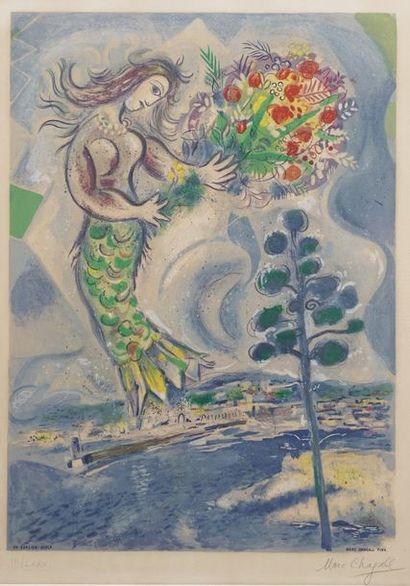 Marc CHAGALL (1887-1985)  Sirène au pin (1967)...