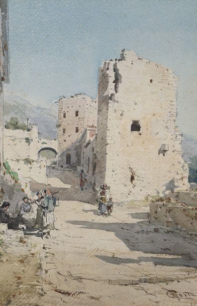 Emmanuel COSTA (1833-1921)  Arrière-pays...