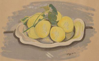 Georges BRAQUE (1882-1963)  Les citrons  Lithographie...