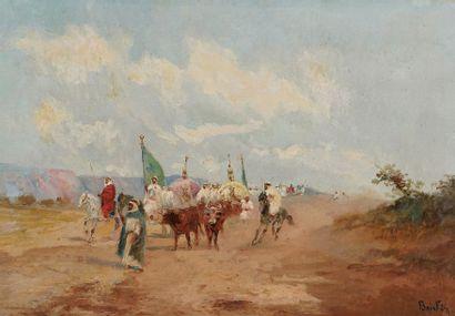 Emile BOIVIN (1846-1920)  Procession dans...