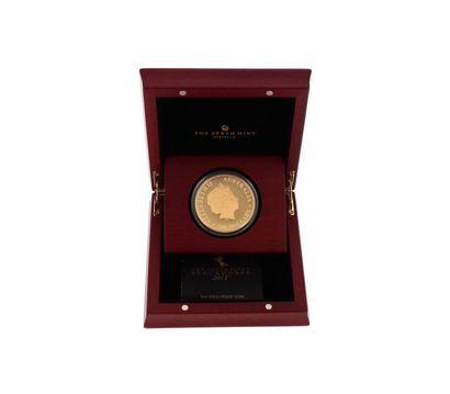 Une médaille en or jaune (999 °/°°) de 500...