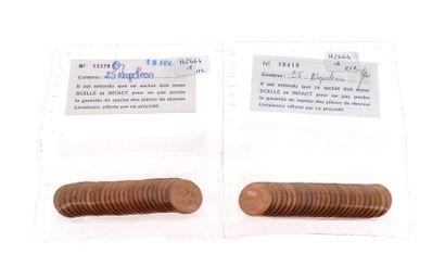 50 pièces en or de 20 FF Coq Présentées en...