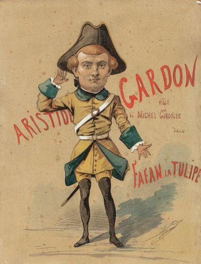 ARMAND (Active in the 19th and 20th century) Aristide Gardon in the role of Fanfan...