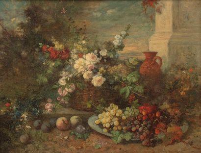 Alexandre Jean COUDER (1808-1879) Basket...