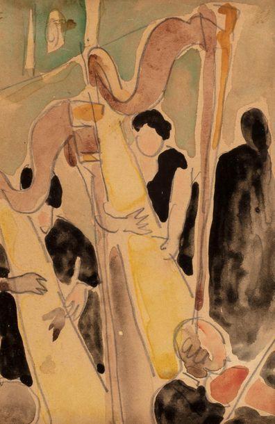 Louis VALTAT (Dieppe 1869 - Paris 1952) Harpists...
