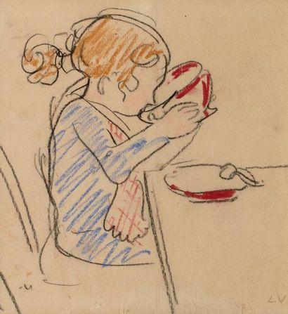 Louis VALTAT (Dieppe 1869 - Paris 1952) Girl...