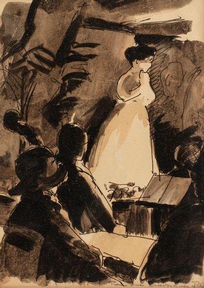René BESSERVE (1883 - 1959) Cantatrice et...