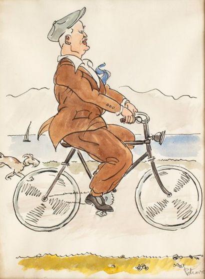 PETROVIC (Actif au XX ème siècle) Cycliste...