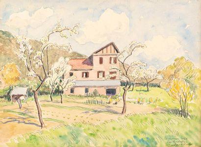 Ludovic RODO PISSARRO La maison rose, Les...