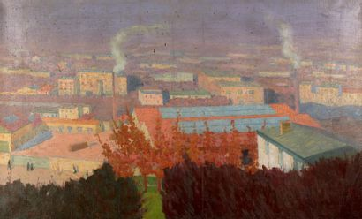 Ludovic VALLEE (Paris 1864 - 1939) Ville...