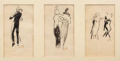 Carlos REYMOND (Paris 1884-Nice 1970) Danseurs...