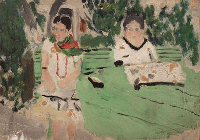 Raymond CHARMET (1904-1973) Deux femmes assises,...