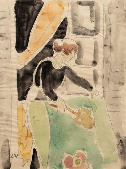 Louis VALTAT (Dieppe 1869 - Paris 1952) Domestique...