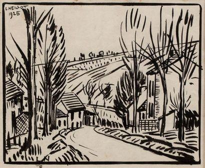 Louis NEILLOT (Vichy 1898- Paris 1973) Rue...