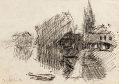 Attribué Albert LEBOURG (1849 -1928) Village...