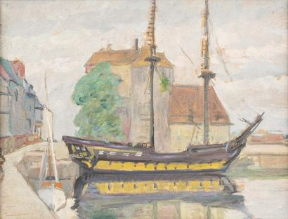 Carlos REYMOND (Paris 1884-Nice 1970) Honfleur,...
