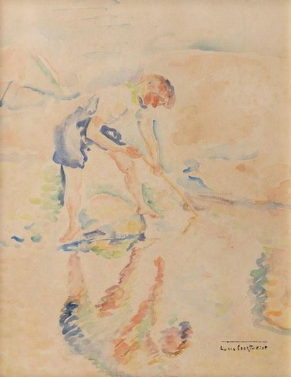 Lucie COUSTURIER (Paris 1876 - 1925) Pêcheuse...
