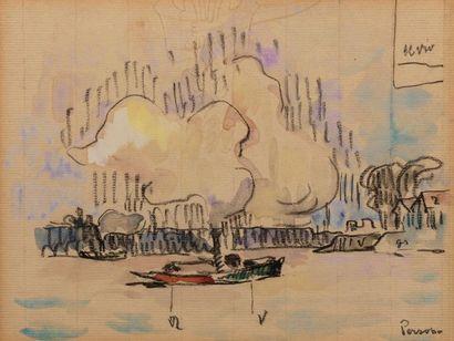 Henri PERSON (Amiens 1876- Paris 1926) Bateau...