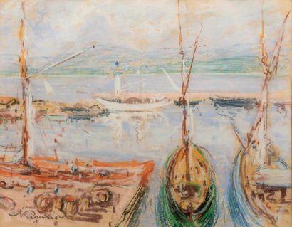 Auguste PEGURIER (1856 - 1936) Bateaux au...