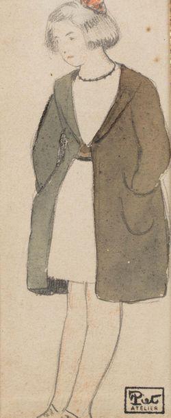 Fernand PIET (Paris 1869 - 1942) Jeune fille...