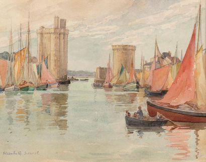 Elisabeth SONREL (Tours 1874 - 1953) Le port...