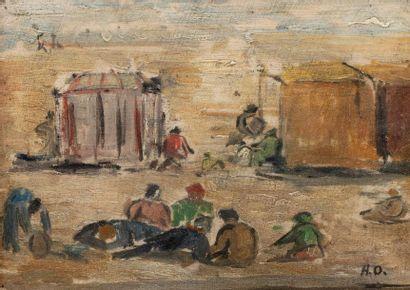 Ecole FRANCAISE du XX ème siècle La plage...