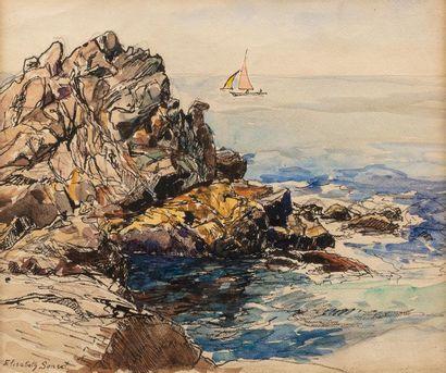 Elisabeth SONREL (Tours 1874 - 1953) Bord...