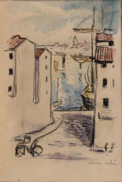 Albert ANDRE (Lyon 1869-Laudun l'Ardoise 1954) Port de Méditerranée Reproduction...