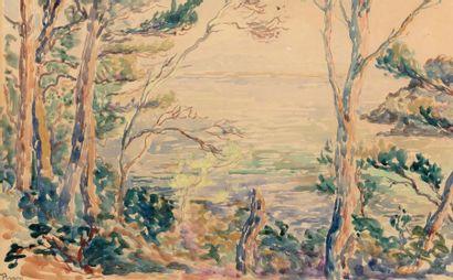 Henri PERSON (Amiens 1876- Paris 1926) Seascape Watercolour on paper 25,5 x 40,5...