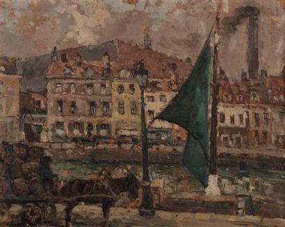 Fernand MAILLAUD (Mouhet 1862 - 1948) Charrette...