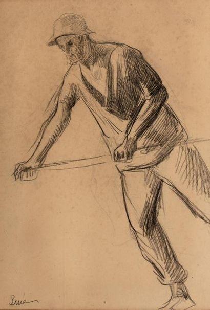Maximilien LUCE (Paris 1858 - 1941) Homme...