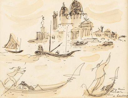André HAMBOURG (Paris 1909 - 1999) Venice...