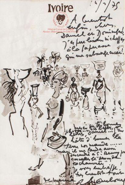 André HAMBOURG (Paris 1909- 1999) African...