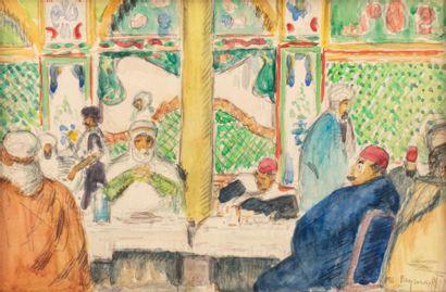 Carlos REYMOND (Paris 1884-Nice 1970) Café...